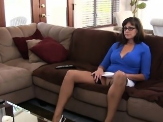 Lusty mom gets wild and sits down on dick for a sexy ride