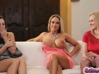 Tegan makes the hot teacher cum in her mouth
