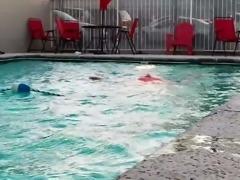 Vegas Motel Pool Flashing