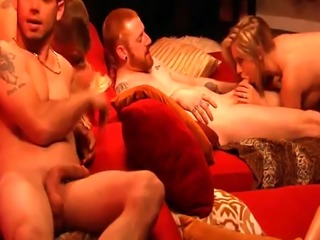 Group of horny couple orgy with swingers and enjoyed it