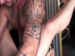 Barebacking mature bear fucking ass raw
