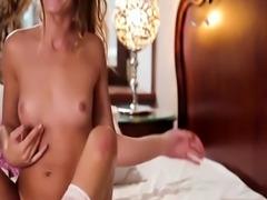 Raunchy chick Slatsjana enjoys rubbing her tasty love tube