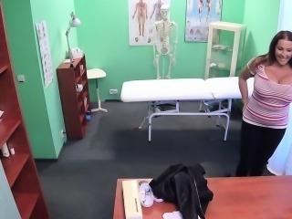 Doctor bangs monster boobs patient