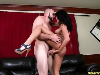 Piercings breathtaker Jmac with huge boobs and trimmed snatch is a facial cum slut
