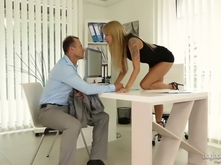 Sex crazed Angel Piaf knows how to help her hubby lets out all his stress