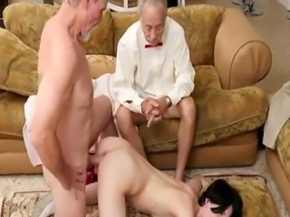 Old granny big tits and young squirt She a scorching petite chick that