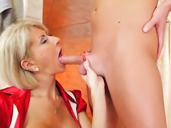 Milf finds it exciting to be cum drenched