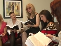 Nina Hartley is one bootylicious mature woman and she loves lesbian orgies