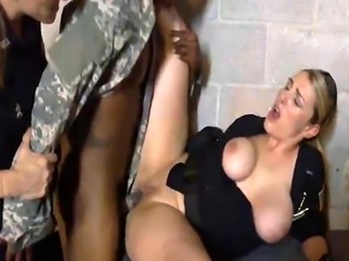 Soldier bangs cops Maggie and Joslyn in threesome