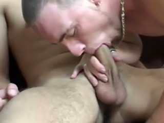 Masculine straight men having gay sex with Tony laid on his