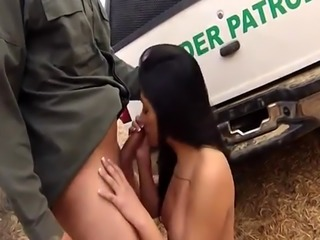 Fake cop threesome xxx Busty Latin floozie Alejandra Leon graciously m
