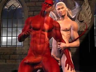 3D Gay Huge Cock Fantasies!