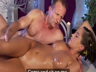 Busty Anabelle gets hot massage with happy end