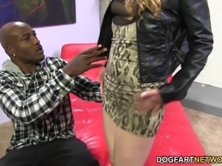 Sasha's never had interracial sex in her life. Soon she's swallowing as much of Wesley's black pipe as her throat can handle. Every inch of his black cock disappears into her pussy and ass...