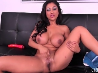 Ethnic milf with fabulous big breasts Priya Rai makes herself cum hard