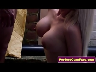 Bigtits uk beauty wanks cock and tastes jizz