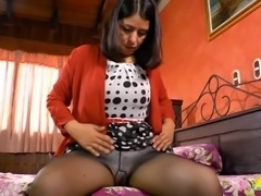 Horny latina  glorious tits closeup and wet pussy toying masturbation