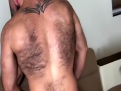 Muscular bear barebacking hairy bottom