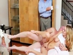 Big tit milf waitress and college cumshot Molly Earns Her Keep