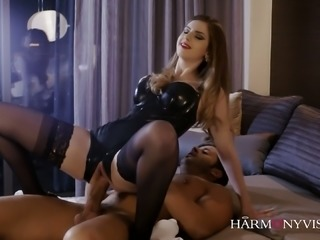 Awfully hot Stella Cox knows how to spice up the bedroom for her lover