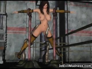 3D Terrifying Tentacles Destroy Babes!
