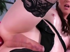 TS Natalie Mars Fucks Her Ass With A Toy