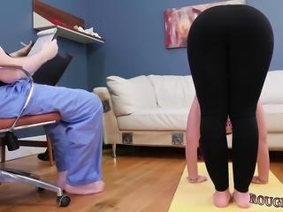 Latex mask bondage Ass-Slave Yoga