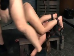 Roughfucked sub slave drilled by her master