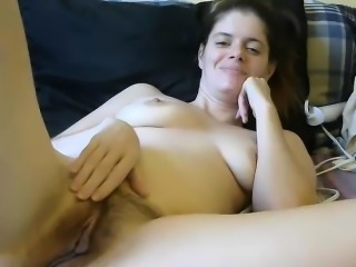 Hairy Brunette Compulsive Masturbation