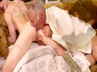 Old man forces young girl and taboo xxx Frannkie heads down the Hersey