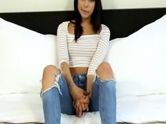 Smalltitted beauty filmed on sextape