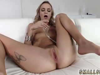 Teen cheats with black cock and panties masturbation Tiniest
