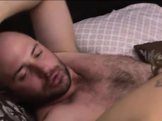 Busty tranny Sunday Valentina fucks bald dude on the bed