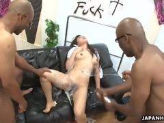 Nami Himemura is a black cock slut and she loves having her muff dicksmashed