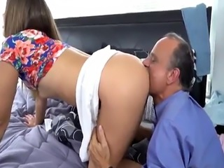 Teen machine and homemade anal toy Liza and Glen hammer the bases
