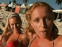 Spectacular Lesbian Blondes Get Anal Fucked and Facialized in an Outdoor Orgy