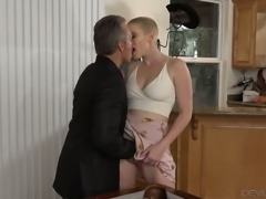 Riley Nixon looks great with a buzz cut and she likes to fuck