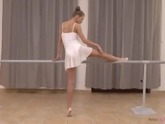 petite ballerina bends over for his fat cock