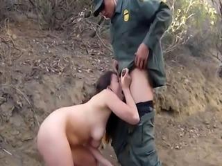 Sexy blonde mom big tits xxx Mexican border patrol agent has his own w