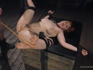 It's not her BDSM fantasy, it's definitely her reality and soon, redhead Penny will be not only bound and tortured, but also brutally fucked. Watch breathtaking punishment and enjoy the spicy bits of scandal!