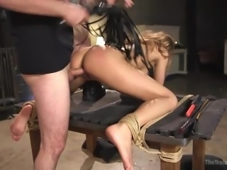 Tommy is almost the best and knows how to deal with unruly tigresses like Moka Mora. As a real trainer, he knocks off the arrogance of this obstinate girl and makes her to obey, while sucking the master's dick and being fucked from behind.
