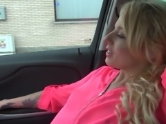 Dude tricks April Paisley into having sex with him in his car