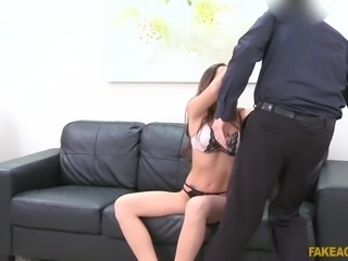 Clea is an exotic brunette who wants to make a career in porn business, and she does everything I tell her, because she thinks I can help her make her dreams come true. So she's all too willing when I order her to suck and ride my cock. Lucky for me, she doesn't know I'm a fake casting agent.