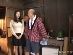Dirty old guy just wants to suck this busty MILFs pussy