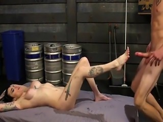 Big booty shemale got rimming