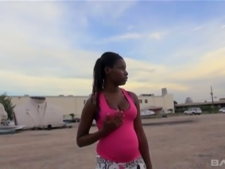 Pregnant ebony chick ends up having sex with a stranger