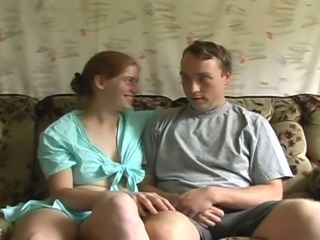 Couple is sweating in their hot passion on the couch