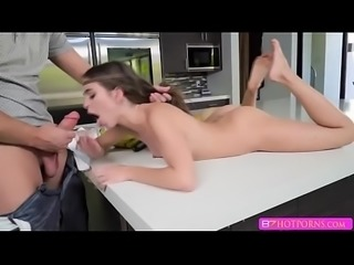 Brunette babe Rileys tight pussy gets pounded hard - bzhotporns.com