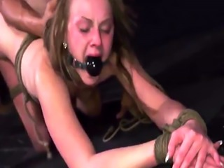 Bondage group public humiliation Lizzie Bell went out for a ordinary w