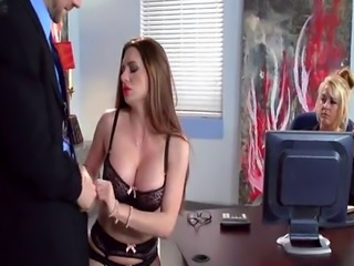 Hot Secretary works His Cock